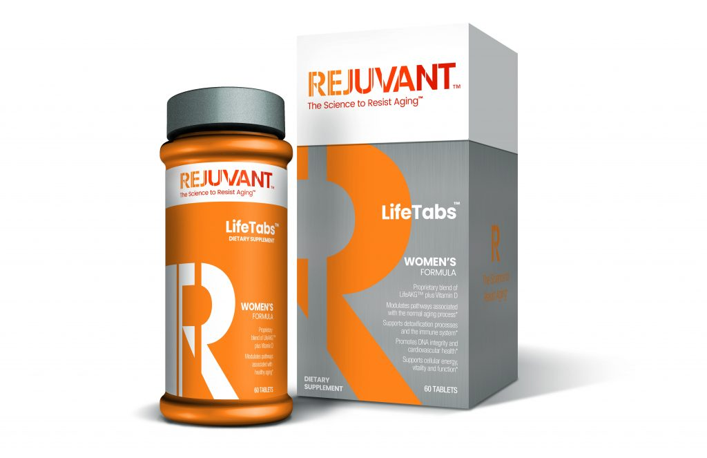 Rejuvant's™ proprietary formula of LifeAKG™ helps resist aging for women.